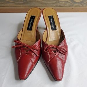 "Etienne Aiguer womens ""Vodka"" heels, red leather"